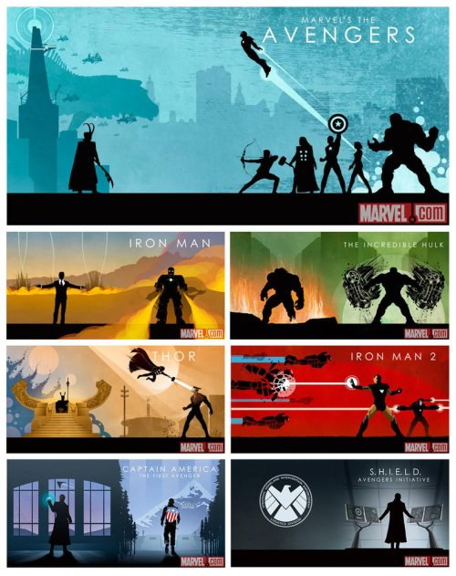 Marvel Cinematic Universe Phase One Art Work by Matthew Ferguson