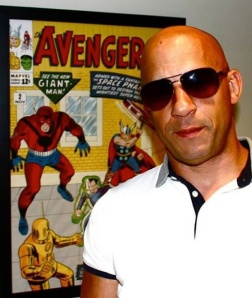 Vin Diesel at Marvel via Facebook